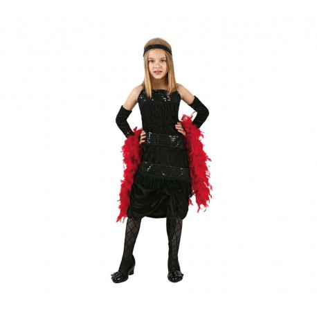 Disfraz de Charlestón negro .Talla 10-12