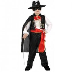 Disfraz del Zorro. Talla 5-6