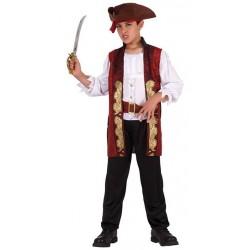 Disfraz de Capitán pirata.Talla 7-9