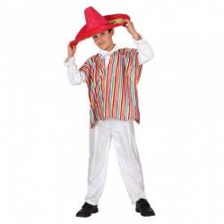 Disfraz de mexicano.Talla 5-6