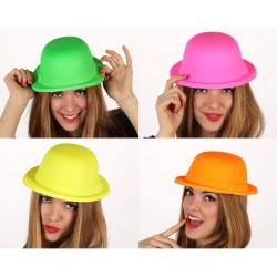 Sombrero Bombín Fluorescente 4 colores surtidos