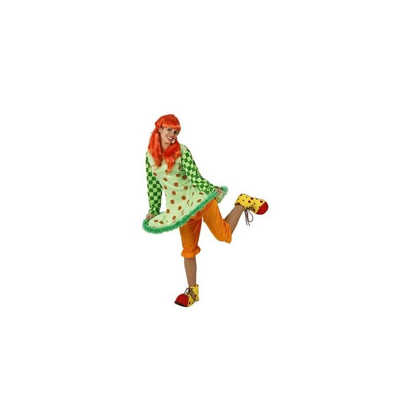 Este disfraz de Payasa Aro para Mujer Incluye sombrero 26ca29a4315
