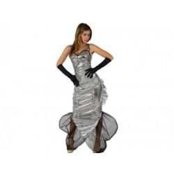 Disfraz de Sirena.Plateada Talla M-L