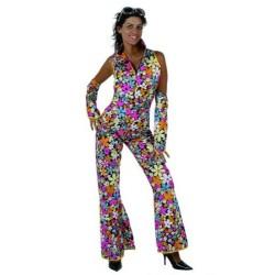 Disfraz de  Hippie Flores. Talla M-L