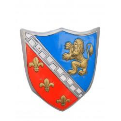 Escudo Medieval con Leon Dorado.Pvc