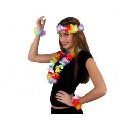 Set Hawaiano 4 piezas.Flores
