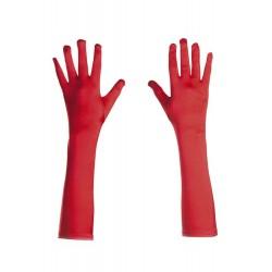 Guantes rojos Largos de 45 cm. Algodón