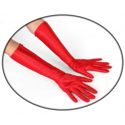 Guantes largo de color rojo.45cm