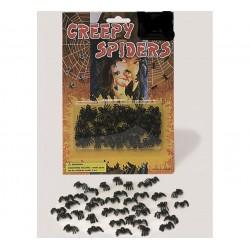 Blister de 40 arañas para decoración de Halloween