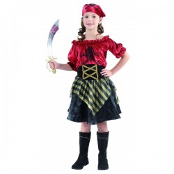 Disfraz de Pirata Corsaria . Talla 4-6
