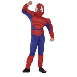 Spiderman musculoso,.talla 7-9