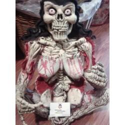 Zombie Mujer esqueleto Sentada,Busto Gomoso