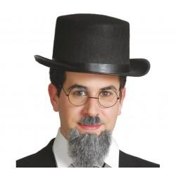 Sombrero Chistera de  fieltro.Alta 15 cm