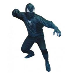 Disfraz de Spiderman, negro . Talla unica