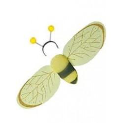 Alas de abeja,con antenas,set 2 piezas