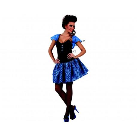 Disfraz Chica años 60,Talla XL