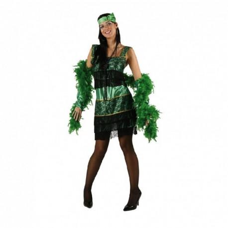 Disfraz de Charleston Verde.Talla M-L