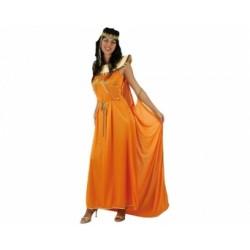 Disfraz de Reina Egipcia,Naranja.Talla M-L