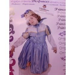 Disfraz de Princesa Azul.Talla 3-4