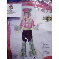 Disfraz de Hippie,talla 7-9