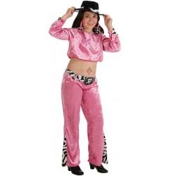 Disfraz de Cantante Pink,rosa.Talla 11-14