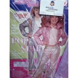 Disfraz de Pop Star,Talla 4-5 años.