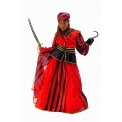 Disfraz Pirata Lujo,Verde.Talla 6-10