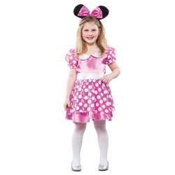 Disfraz de Minnie o Ratita Rosa Infantil