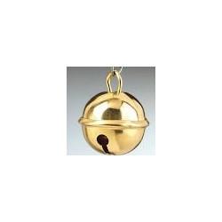 Cascabel  dorado.Tamaño 3 cm
