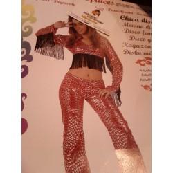Disfraz Chica Disco Rojo...Talla M-L