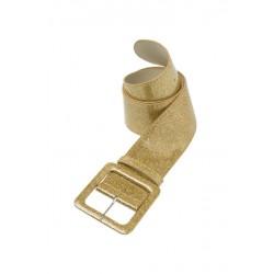 Cinturón o Correa brillante de color oro.112 X 5,5CM