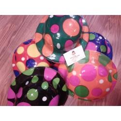 Sombrero Bombin ,pvc,colorines.Payaso