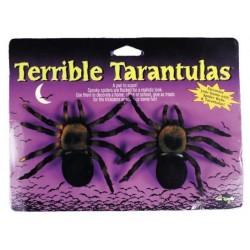Arañas-Tarantula flocadas, 7cm.Bichos.Halloween