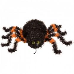 Araña negra y naranja  para colgar. Halloween