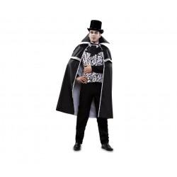 Disfraz Vampiro Elegante,Blanco y negro