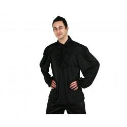 Camisa Negra con Puntilla.
