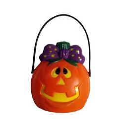 Calabaza Sonriente c/luz.Decoracion Halloween.