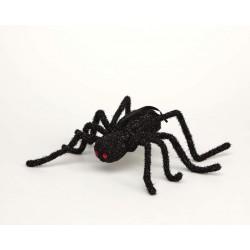 Araña Negra Brillo colgarlo.Halloween