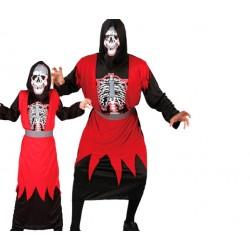 Disfraz de Esqueleto Rojo.Talla unica