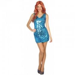 Disfraz Disco Azul,talla XS-S