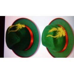 Sombrero de Tiroles.Fieltro Verde.Infantil