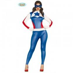 Disfraz Super Heroína Superstar. Capitana Azul.Talla M
