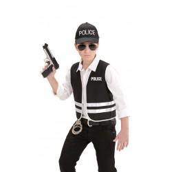 Set de Policía,Infantil.Talla 8-10 años (140 cm)