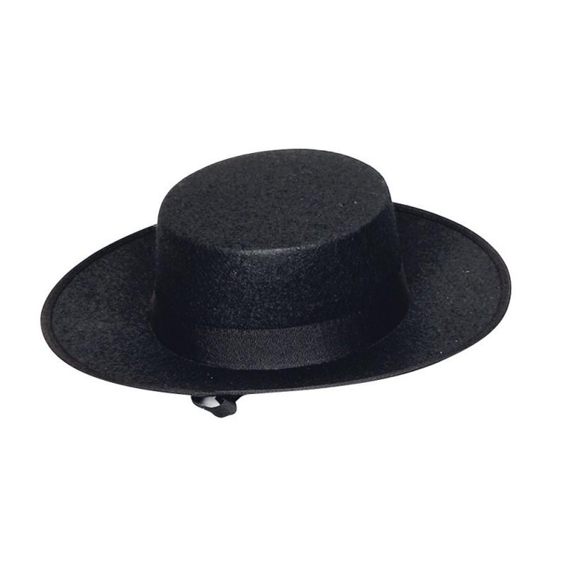 Sombrero o Gorro de Cordobés-Sevillano Negro.Infantil. Loading zoom 35744c0ce97