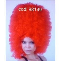 Peluca Roja Rizada.Afro