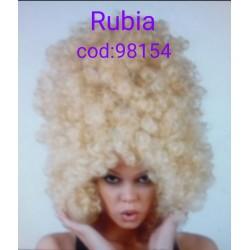 Peluca Rubia Rizada.Afro