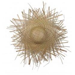 Sombrero de paja desfilorchado