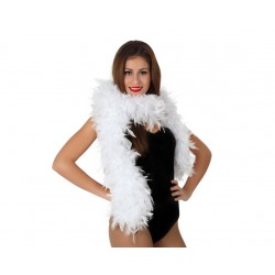 Boas de plumas Blanca.100gms.185cm