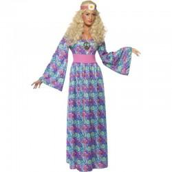 Disfraz Hippie-Años 60,Vestido elegante.Talla M