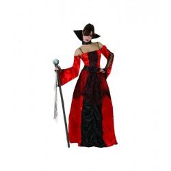 Disfraz Vampiresa Gótica,rojo Talla M-L